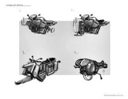 Vintage Jet Bike Cocepts by ModalMechanica