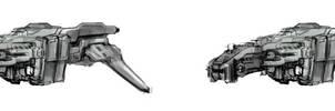 Spaceship Commission Wip by ModalMechanica