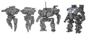 Mecha Design Variations 2 by ModalMechanica