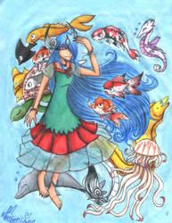 Nuregami the Water Goddess by BunnyGirl-666