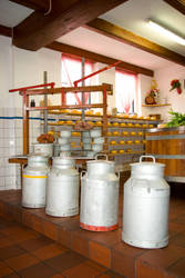 Milk cans and Cheese press by steppeland