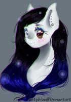 Art Trade | Cyan Crystal by xKittyblue