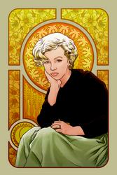 Marilyn Monroe in Mucha by hamdiggy