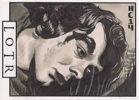 Sketchcards - LOTR - Meriadoc by hamdiggy