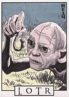 Sketchcards - LOTR - Gollum by hamdiggy
