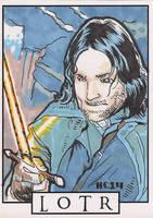 Sketchcards - LOTR - Aragorn by hamdiggy