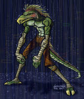 lizard guy dude colored by hamdiggy