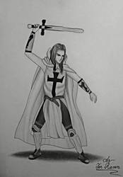 Recreation of Prussia Teutonic Knight from Hetalia by AddaWhite