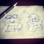 Random: Cow + Bear Birthday Greeting by mscherbear