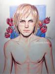 Evan Peters by AmandaDarko