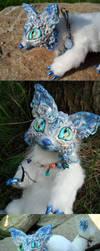 Ice Kitsune Pose Shots by MaryBunnie