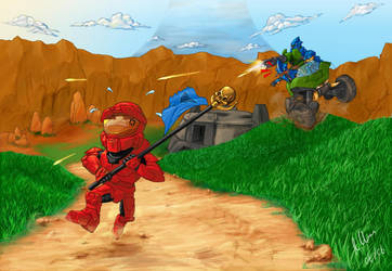 Red team has the flag by r7ll