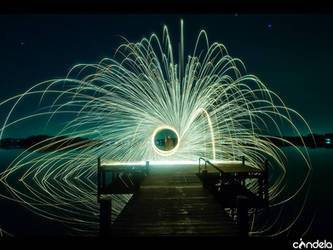 lake of fire lightpainting by flu0rgfx