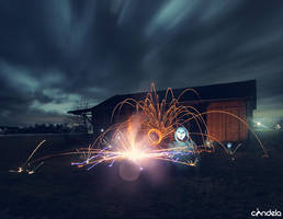 ecclesiophobia lightpainting by flu0rgfx