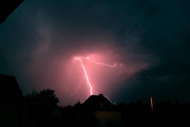 Lightning over Munich #4 by flu0rgfx