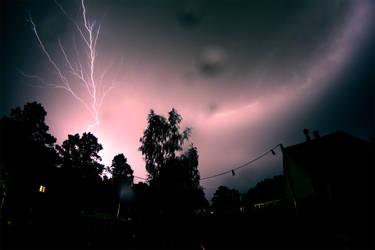 Lightning over Munich #3 by flu0rgfx