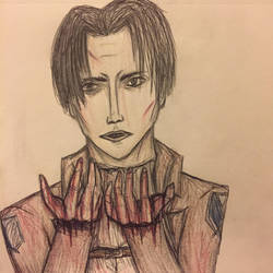 Blood on My Hands - Levi Ackerman by Cinnamon-Bean