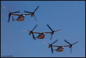 MAGTF Bell Boeing V-22 Ospreys by AirshowDave