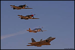 Heritage Flight 2015 Planes of Fame by AirshowDave