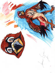 A bird man by jamestheterrible