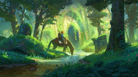 Link and the Forest Temple by JeremyFenske