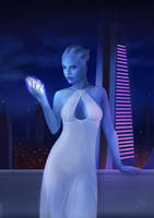 Asari temptation by Falaryen