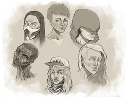 Random Girls sketch by NejnoeBu