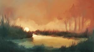 Dawn On The Swamp by NejnoeBu
