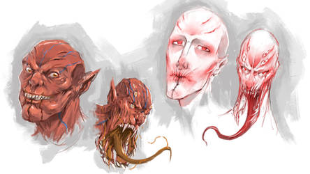 Vampires sketch by NejnoeBu