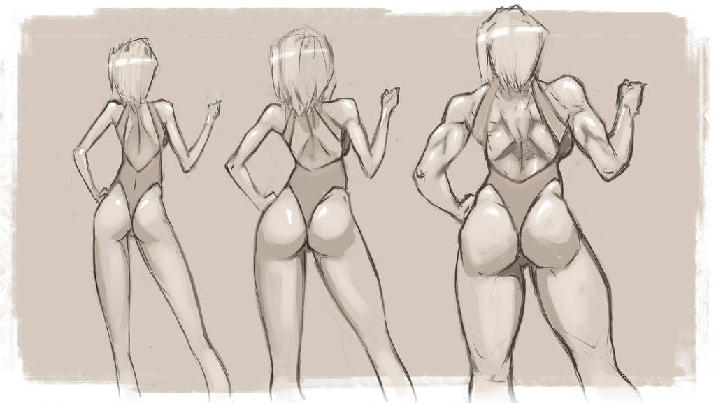 Girl size sketch by NejnoeBu