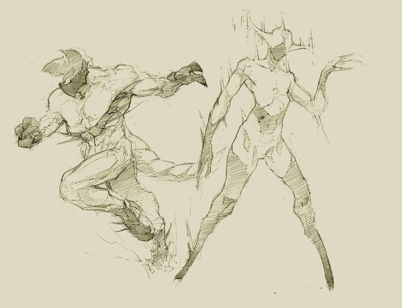 Pencil sketch by NejnoeBu