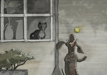 Dogs and cats by marjasii