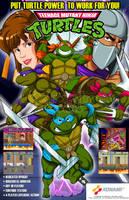 TMNT arcade flyer free version by Shayeragal
