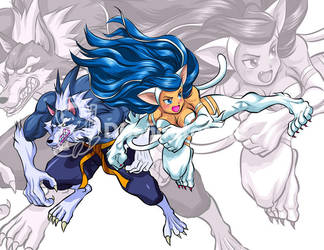 tailban and felicia halloween team up by Shayeragal