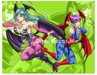 morrigan and lilith by Shayeragal
