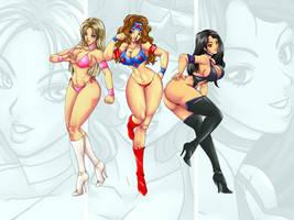 wrestle girls wp by Shayeragal