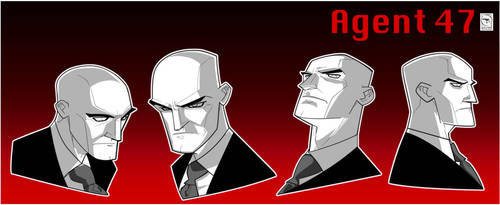 Agent 47 #3 Faces by pieffras