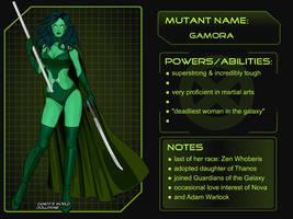 X-Girl Marvel Girl Gamora by autumnrose83