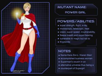 X-Girl - DC Girls Power Girl by autumnrose83