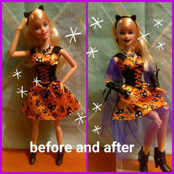 Halloween magic Barbie customization 6 by autumnrose83