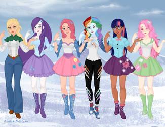 Snow-Queen - MLP Girls 1 by autumnrose83