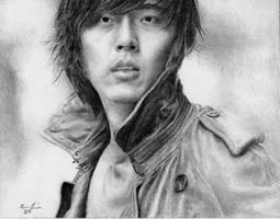 Hyun Bin Drawing by Dragoslayer4