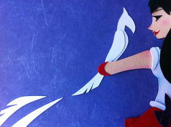 Paper Sneak Peek:  Sailor Mars 2.0 by tracyblank