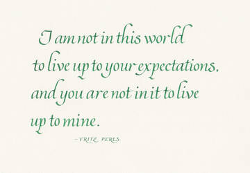 Fritz Perls - Expectations by MShades