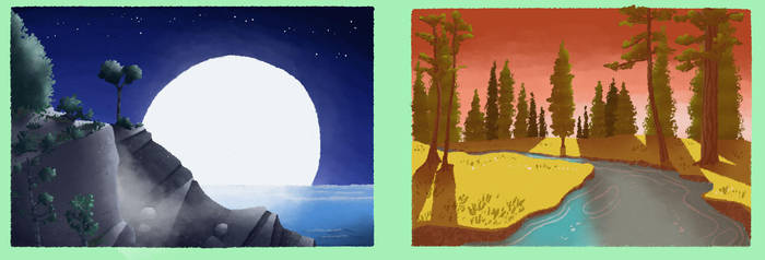 Color Changing Island Background Concepts by AltabetStudios