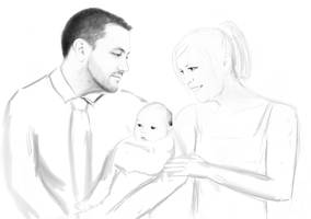 Dave and new baby by dariauk
