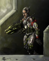 Cyborg Soldier by 21october