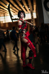 Crimson Akali cosplay (League of Legends) by Morgawze