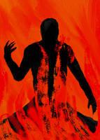 Speedpaint- Darkness in Fire by 9Jerimi9Galligory9