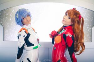 Asuka and Rei by NikitaCosplay